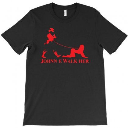 Johnnie Walk Her (walker) ~ Mens Funny Whisky Parody T-shirt Designed By Z4hr4