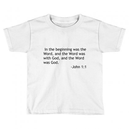 Bible Quote John Toddler T-shirt Designed By Perfect Designers