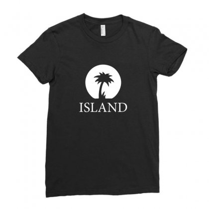 Island Records Ladies Fitted T-shirt Designed By Lyly