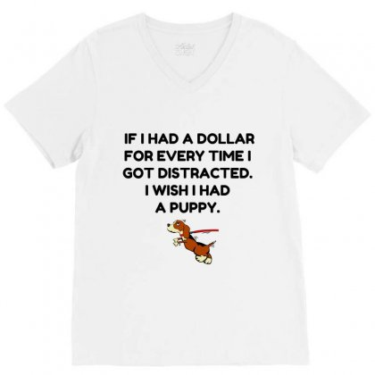 Distracted V-neck Tee Designed By Perfect Designers