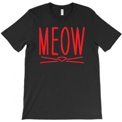 Meow Cute Cat Face T-shirt Designed By Z4hr4