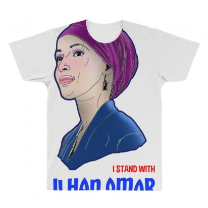I Stand With Ilhan Omar All Over Men's T-shirt Designed By Anrora