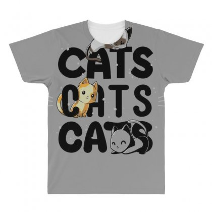 Cats Cats Cats All Over Men's T-shirt Designed By Anrora