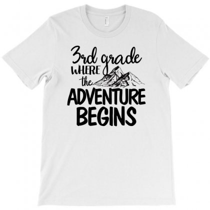 3rd Grade Where The Adventure Begins For Light T-shirt Designed By Sengul