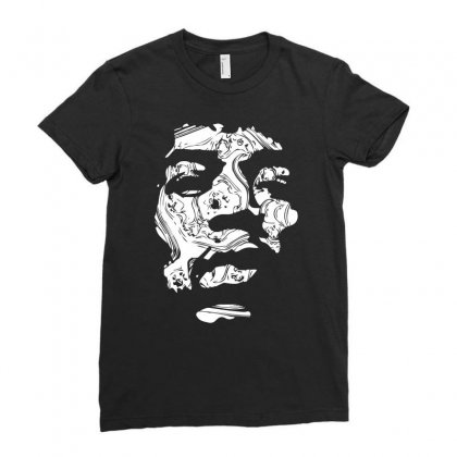 Jimi Hendrix Ladies Fitted T-shirt Designed By Fanshirt