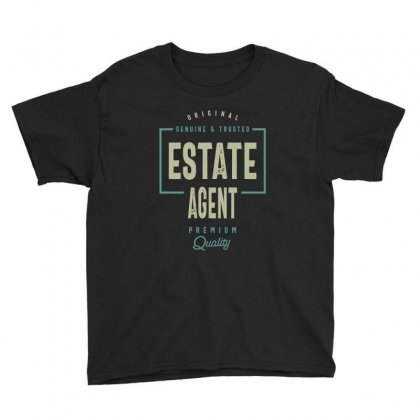 Estate Agent Youth Tee Designed By Cidolopez
