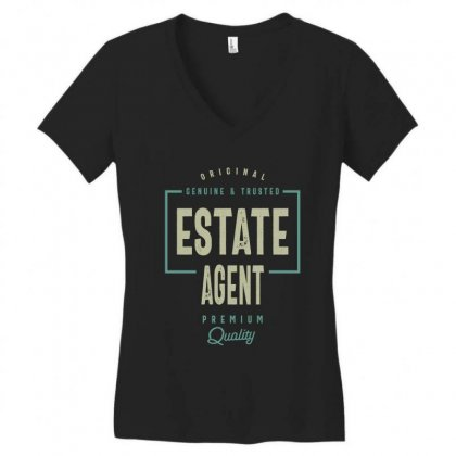 Estate Agent Women's V-neck T-shirt Designed By Cidolopez