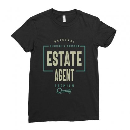 Estate Agent Ladies Fitted T-shirt Designed By Cidolopez