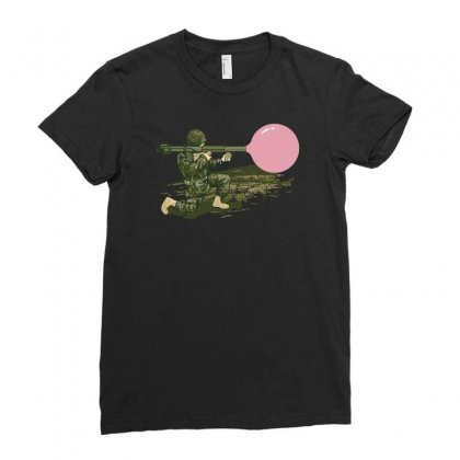 Bazooka Ladies Fitted T-shirt Designed By Achreart