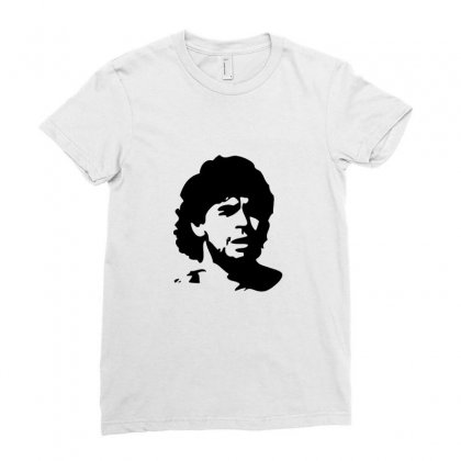 Diego Maradona Ladies Fitted T-shirt Designed By Teeshop