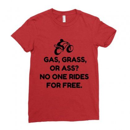 Motorcycle Gas Grass Ass Ladies Fitted T-shirt Designed By Perfect Designers