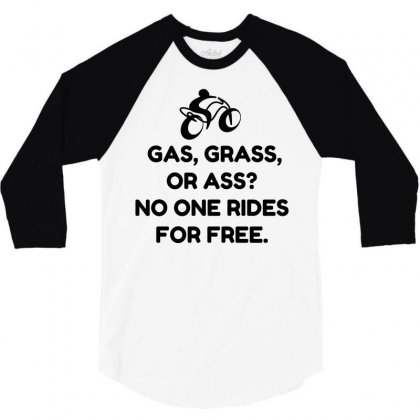 Motorcycle Gas Grass Ass 3/4 Sleeve Shirt Designed By Perfect Designers