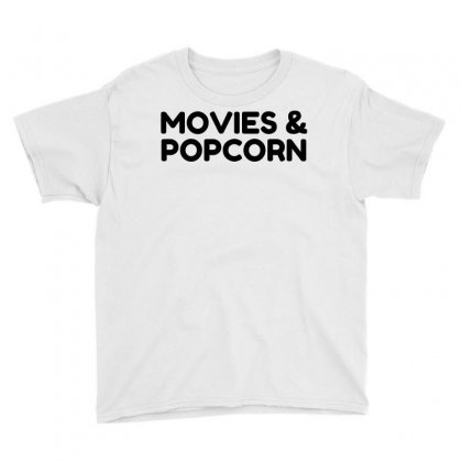 Movies And Popcorn Youth Tee Designed By Perfect Designers
