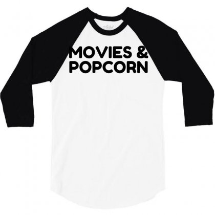 Movies And Popcorn 3/4 Sleeve Shirt Designed By Perfect Designers