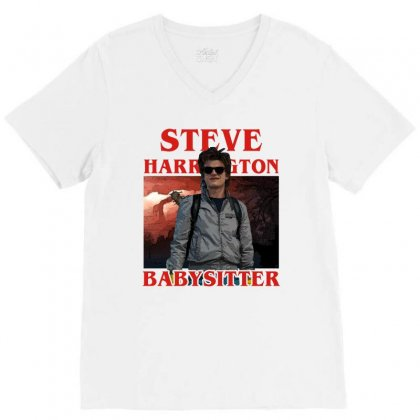 Steve Harrington Babysitter V-neck Tee Designed By Sengul
