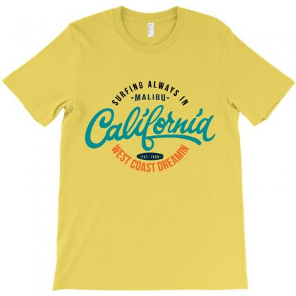 Surfing Alway In California Est 1999 T-shirt Designed By Tudtoojung