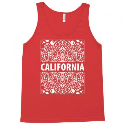 California White Vintage Tank Top Designed By Tudtoojung