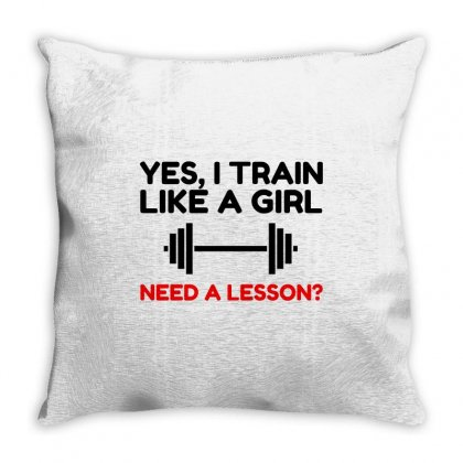 Like A Girl Train Throw Pillow Designed By Perfect Designers
