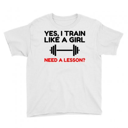 Like A Girl Train Youth Tee Designed By Perfect Designers
