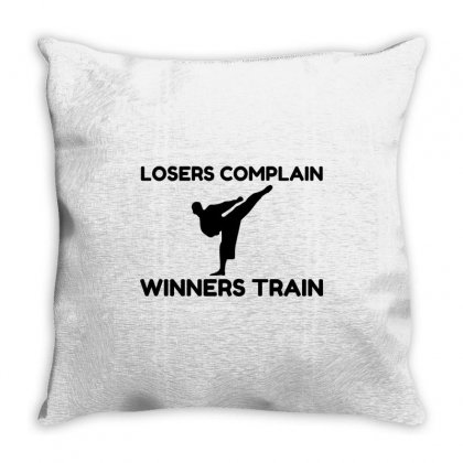 Martial Arts Winners Train Throw Pillow Designed By Perfect Designers