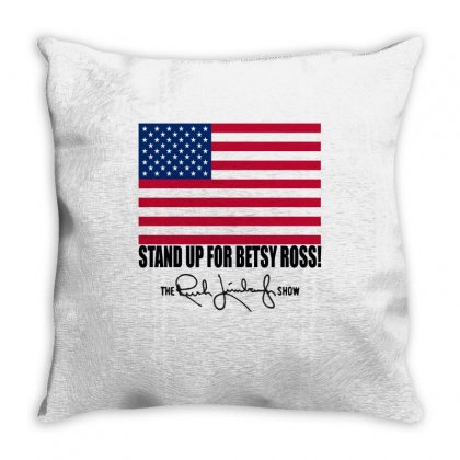 Rush Limbaugh Betsy Ross Flag Throw Pillow Designed By Anrora
