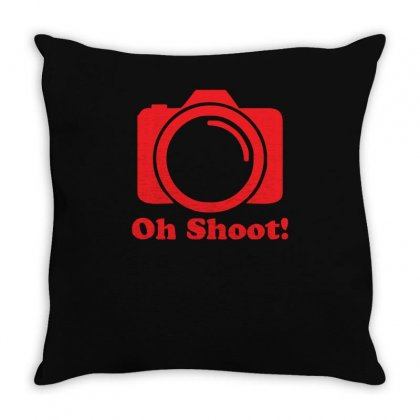 Oh Shoot Camera Throw Pillow Designed By Z4hr4