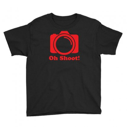 Oh Shoot Camera Youth Tee Designed By Z4hr4