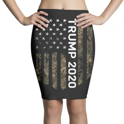 Patriotic American Flag Camo Trump 2020 Pencil Skirts Designed By Kakashop