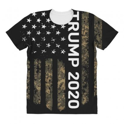 Patriotic American Flag Camo Trump 2020 All Over Women's T-shirt Designed By Kakashop