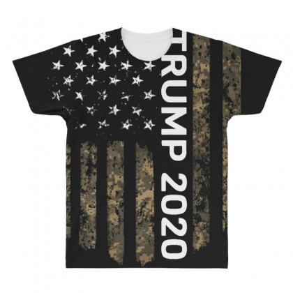 Patriotic American Flag Camo Trump 2020 All Over Men's T-shirt Designed By Kakashop