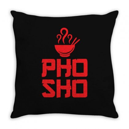 Pho Sho Foodie Asian Food Humor Chopsticks Funny Throw Pillow Designed By Z4hr4