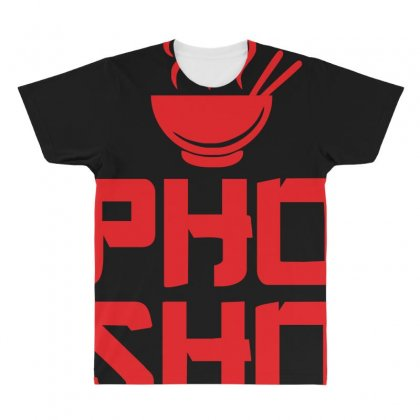 Pho Sho Foodie Asian Food Humor Chopsticks Funny All Over Men's T-shirt Designed By Z4hr4