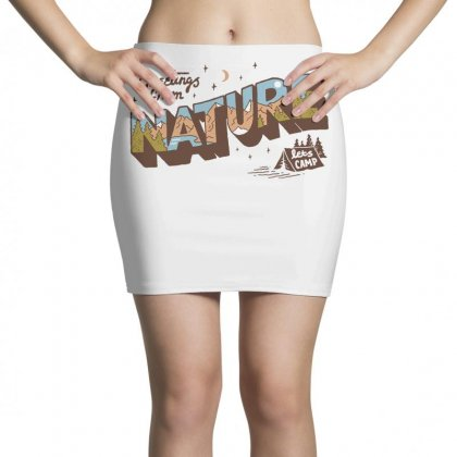 Greetings From Nature Lets Camp Mini Skirts Designed By Anrora