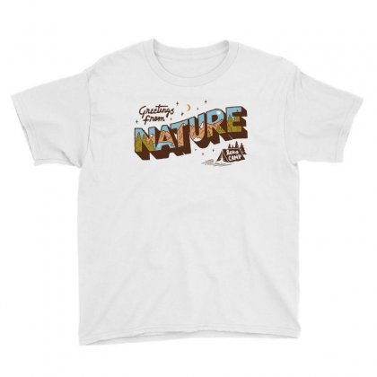 Greetings From Nature Lets Camp Youth Tee Designed By Anrora