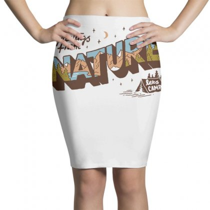 Greetings From Nature Lets Camp Pencil Skirts Designed By Anrora
