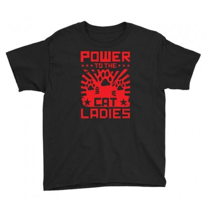 Power To The Cat Ladies Youth Tee Designed By Z4hr4