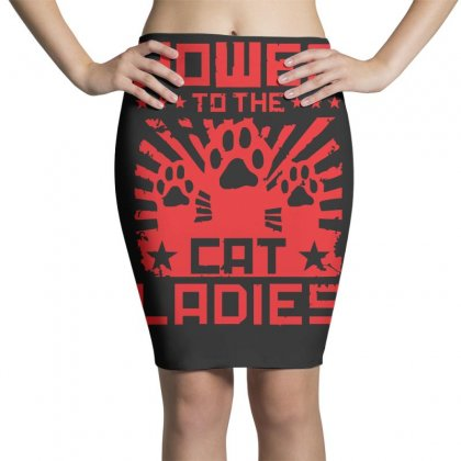 Power To The Cat Ladies Pencil Skirts Designed By Z4hr4