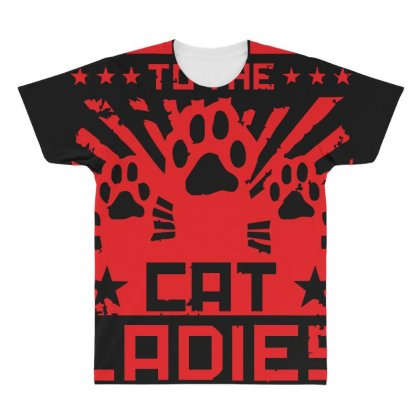 Power To The Cat Ladies All Over Men's T-shirt Designed By Z4hr4