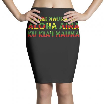 Kanaka Maoli Flag   We Are Mauna Kea T Shirt Pencil Skirts Designed By Cuser1744