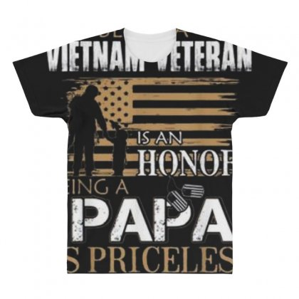 Being Vietnam Veteran Is An Honor Papa All Over Men's T-shirt Designed By Kakashop