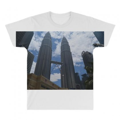 Twin Towers All Over Men's T-shirt Designed By Rozenfeld919