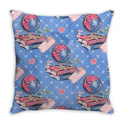 Back To School Throw Pillow Designed By Jade