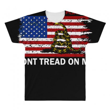 Dont Tread On Me All Over Men's T-shirt Designed By Anrora