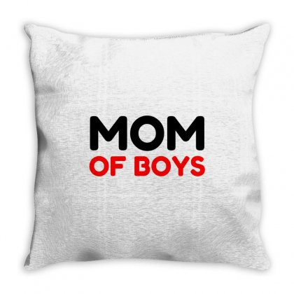 Mom Of Boys Throw Pillow Designed By Perfect Designers