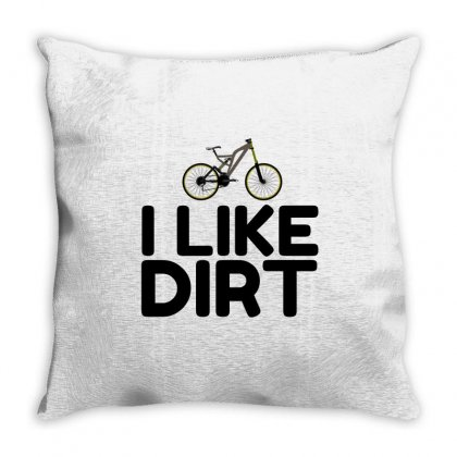 Mountain Bike Dirt Throw Pillow Designed By Perfect Designers