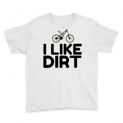 Mountain Bike Dirt Youth Tee Designed By Perfect Designers