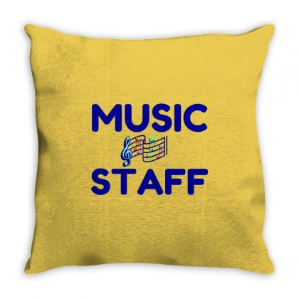 Music Staff Throw Pillow Designed By Perfect Designers