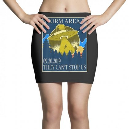 Storm Area 51 Vintage Funny Alien Abduction Ufo Shirt Mini Skirts Designed By Cuser1744
