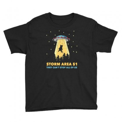 Storm Area 51 Vintage Funny Alien Abduction Ufo T Shirt Youth Tee Designed By Cuser1744