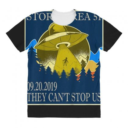 Storm Area 51 Vintage Funny Alien Abduction Ufo Shirt All Over Women's T-shirt Designed By Cuser1744